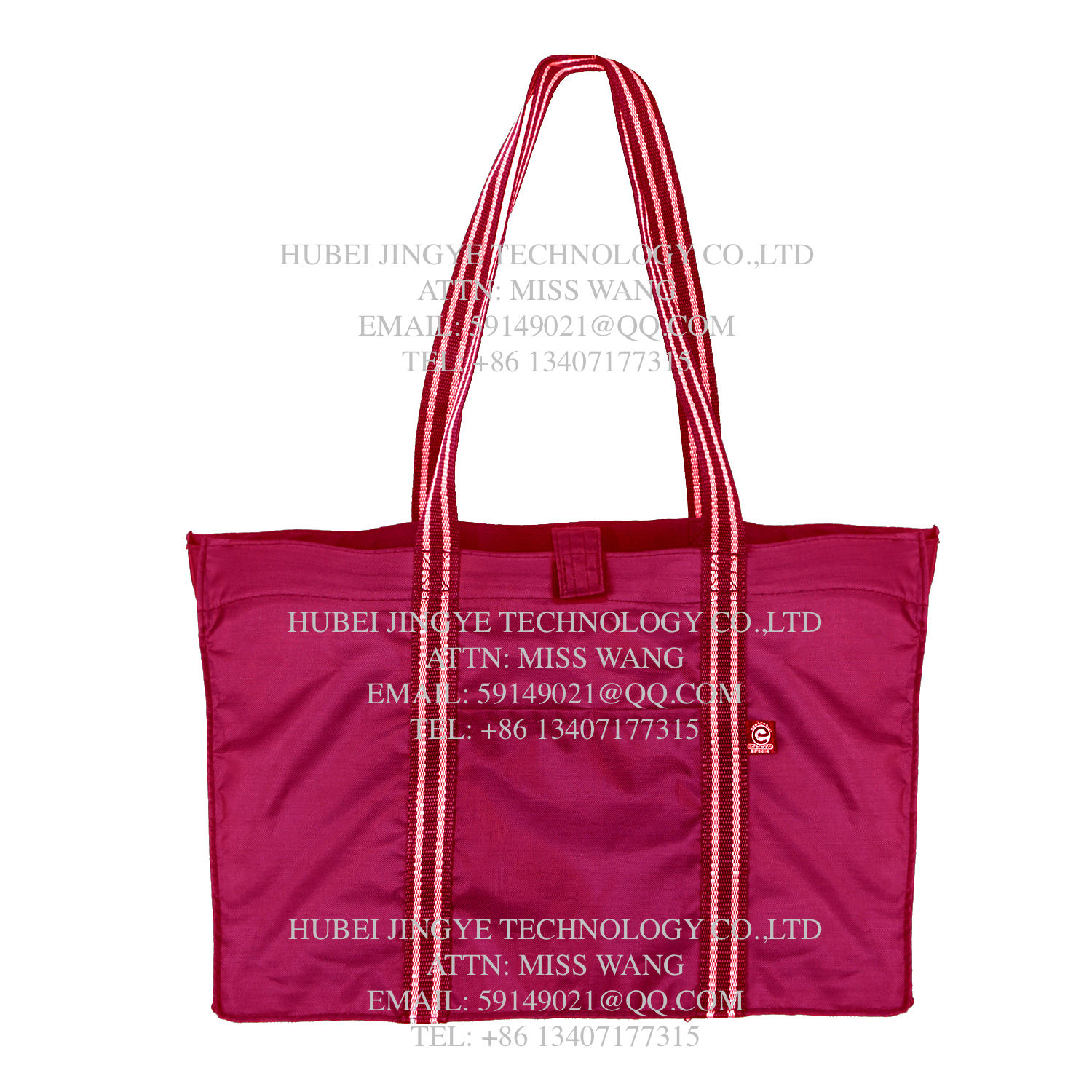 Promotional Fashion Foldable Polyester Shopping Tote Handbags travel bag