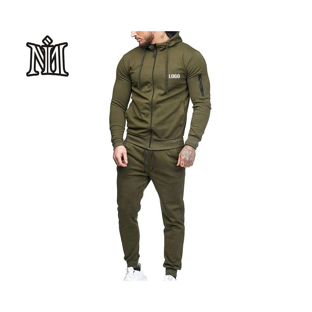 Sports track suit plain for men stripe fitted pullover sweatsuit one piece exercise cotton gtm suits set customize