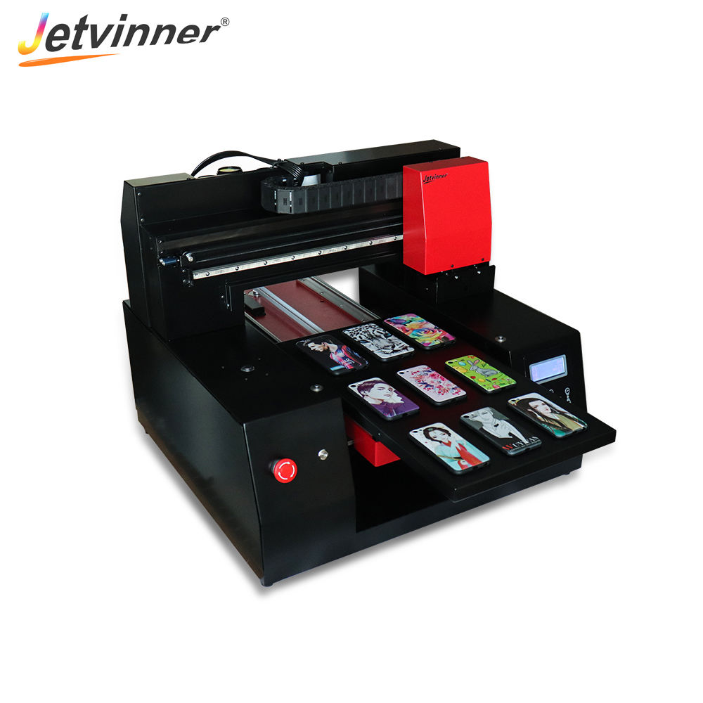 Jetvinner Popular UV Flatbed Printer Print White and Color at same time for phone case metal wood 3060(300*600mm)size