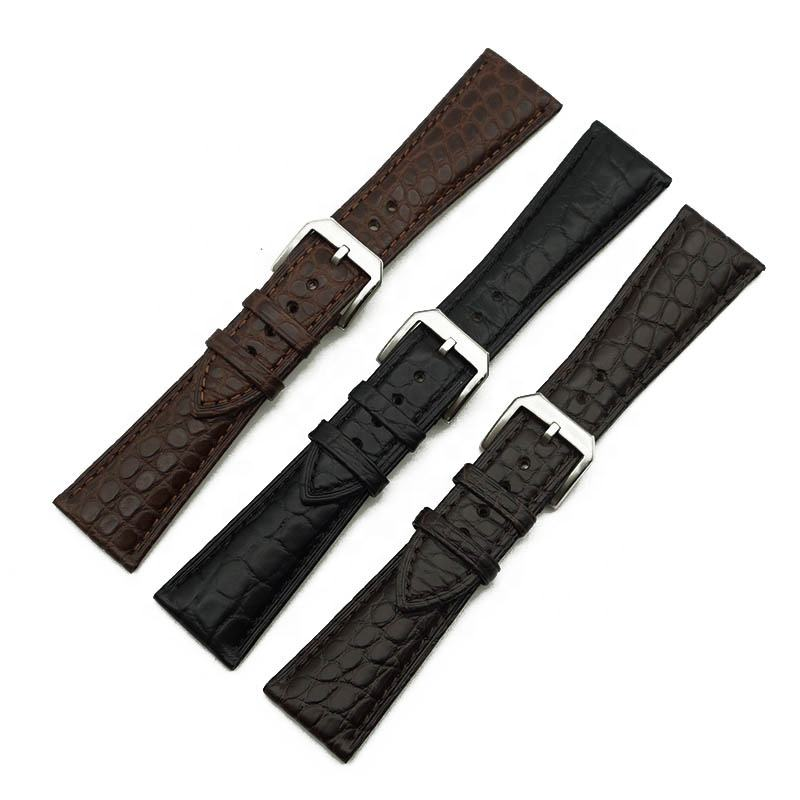 Luxury Crocodile Alligator Watch Band 20mm 22mm 24mm Genuine Retro Leather Watch Strap For Apple Watch Band 40mm 42mm series 6