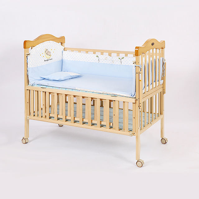 2018 Nieuwe Stijl Houten Baby Meubels Beweegbare <span class=keywords><strong>Bed</strong></span> Ontwerpen Attachable Kinderen <span class=keywords><strong>Cot</strong></span> Baby Cradle