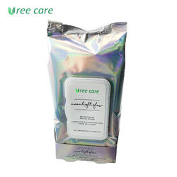 Popular Enriched Aloe Vera Sensitive Skincare Facial Makeup Remover Wet Wipes