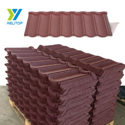 Colorful Metal Production Line Roofing Sheet For Prices Stone Coated Shingle Roof Tile