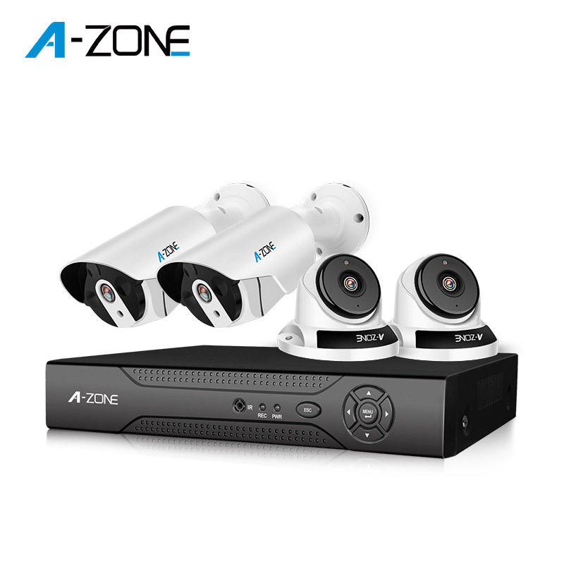 Night Vision 30m IR Dome Bullet 3.6mm Lens DVR 4 Cameras 4CH HD 720P System CCTV Camera Kit
