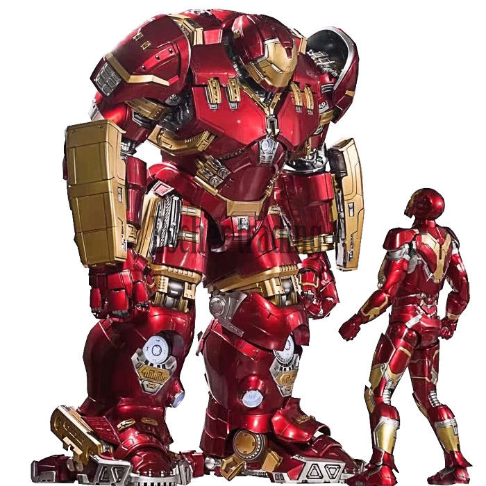 Figuras de acción de <span class=keywords><strong>Marvel</strong></span>, robot de metal mk44, movible, flash