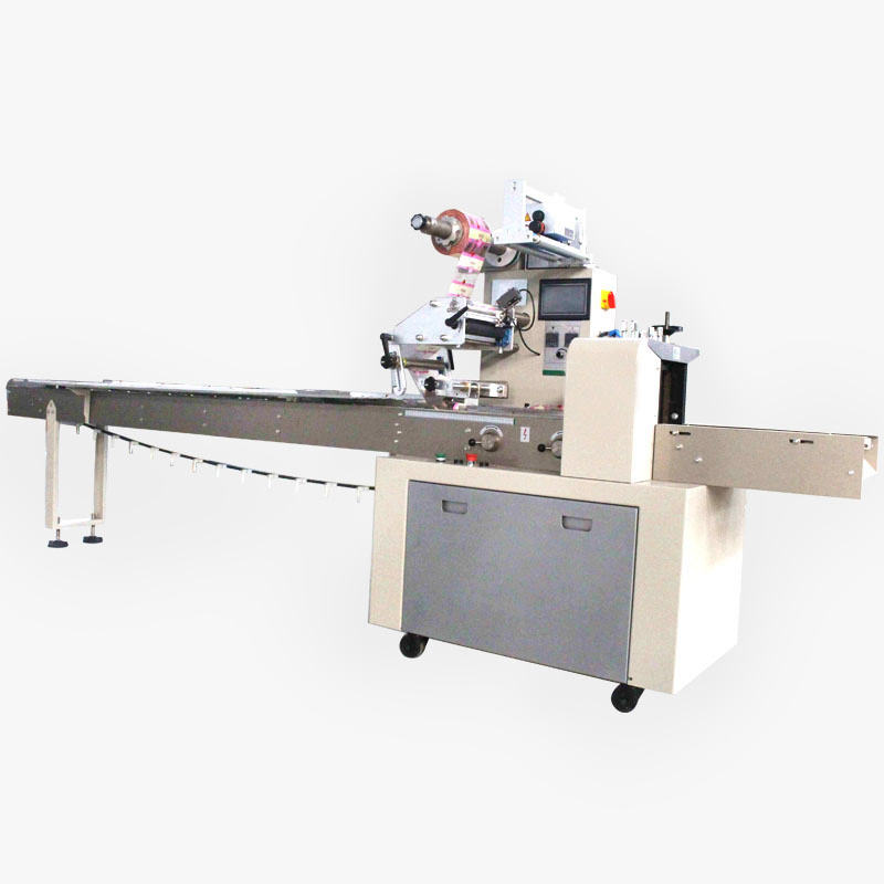 Automatic Horizontal Small Bread Cake Biscuit Cookies Flow Food Packing Machine Price