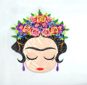 Fabbrica diretta variabile paillettes Messico frida di patch ricamato reversibile patch di paillettes