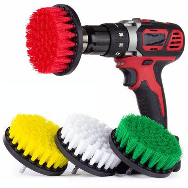 Scrubber Brush Drill Brush Clean for Bathroom Surfaces Tub Shower Tile Grout Cordless Power Scrub Cleaning Kit