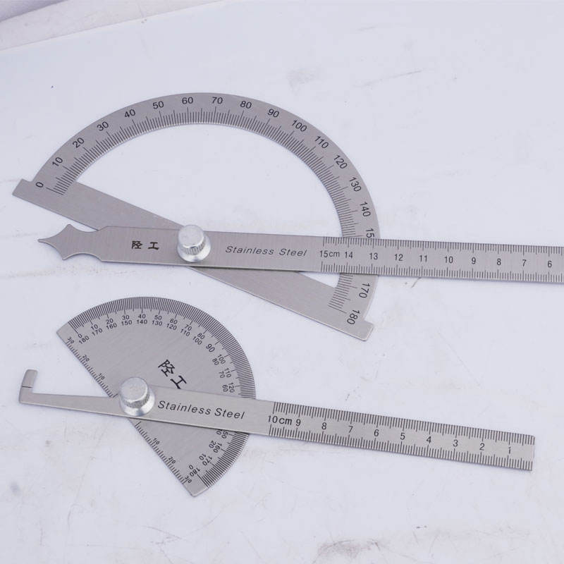 Stainless Steel Angle Finder Arm Measuring 180 Degree Protractor