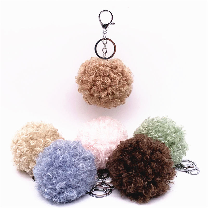 On sale wholesale Key chain hair ball roll cute creative gift jewelry