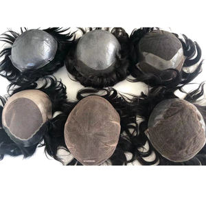 JF EMEDA have large stock of human hair toupee for men and women accept customs made toupee