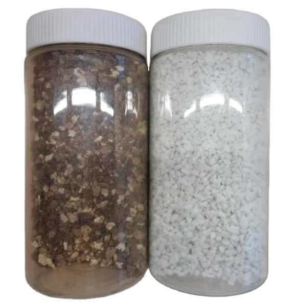 Golden vermiculite and perlite as garden seeding cultivation