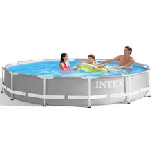INTEX 26724 15FT X 42IN  Premium Prism  Metal Frame Pool large above ground pool  outdoor Family swimming pool