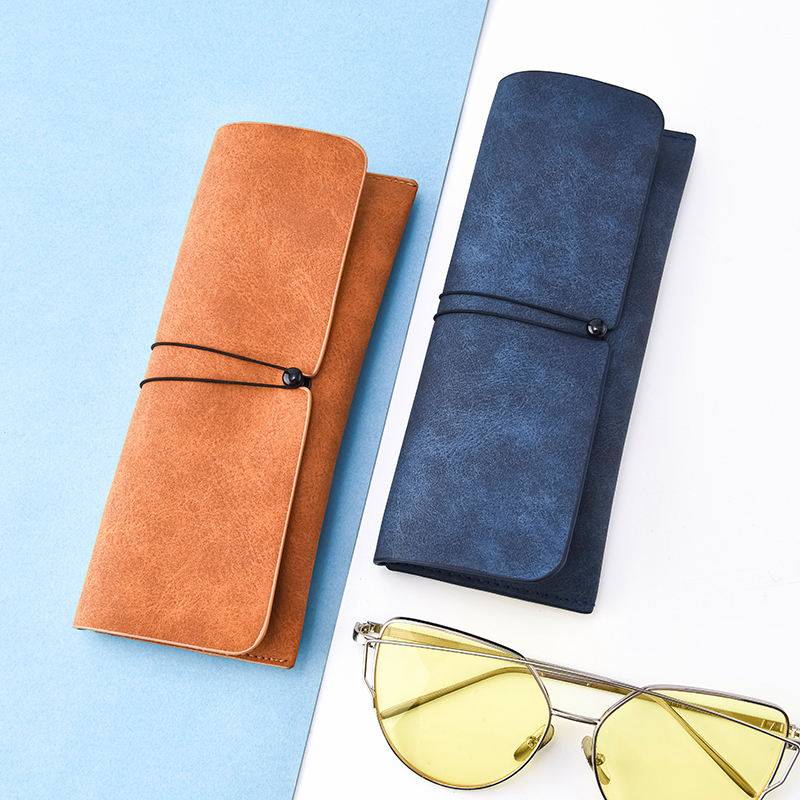 PU Leather Sun Glass Cases Eye Glasses Protection Glasses Case in Wholesale