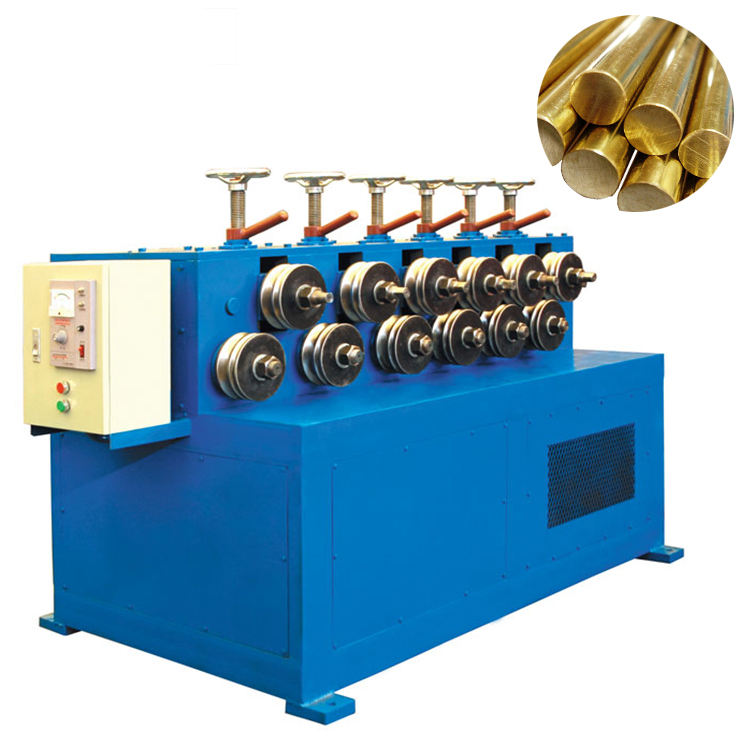 Straightening machine for brass/copper rod/pipe horizontal continuous casting