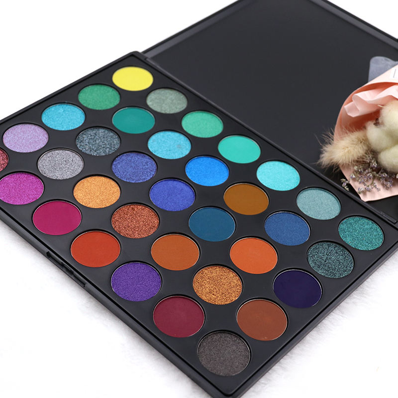 Shenzhen Factory Cosmetic Makeup 35 Color Eyeshadow Palette OEM Matte eyeshadow