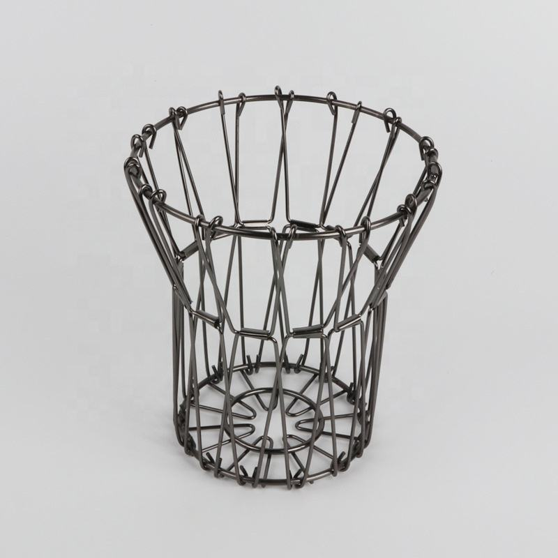 Ware Flexible Wire Basket Transforming For Fruit Bread or Decorative Items