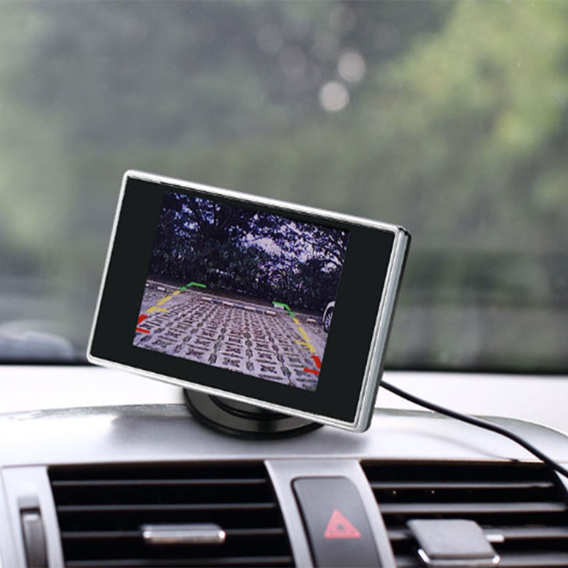 Desktop Car Reverse Display 3.5 Inch TFT LCD Screen Rear View Mirror Car Monitor
