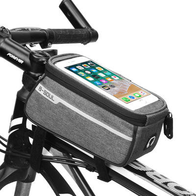 2020 New Design Front Frame Nylon Bicycle Phone Bag Waterproof Touch Screen Bike Bag