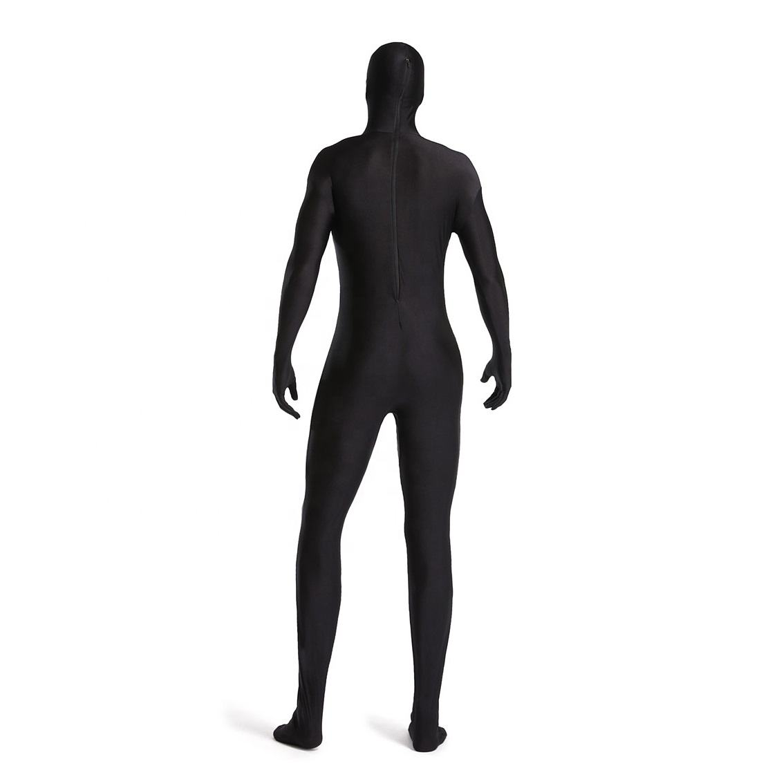 Custom Superhero Cosplay Costume Nylon Spandex Black Zentai Suit Male Spiderman Zentai Suit