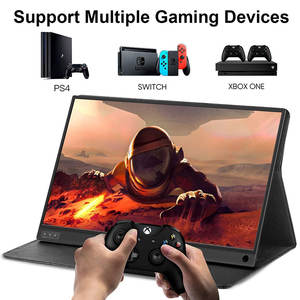 ZSCMALLS With PU Cover 1920*1080 Full HD IPS Screen USB C Gaming Monitor With Type-C Mini HDMI 15.6 Portable Monitor For Laptop