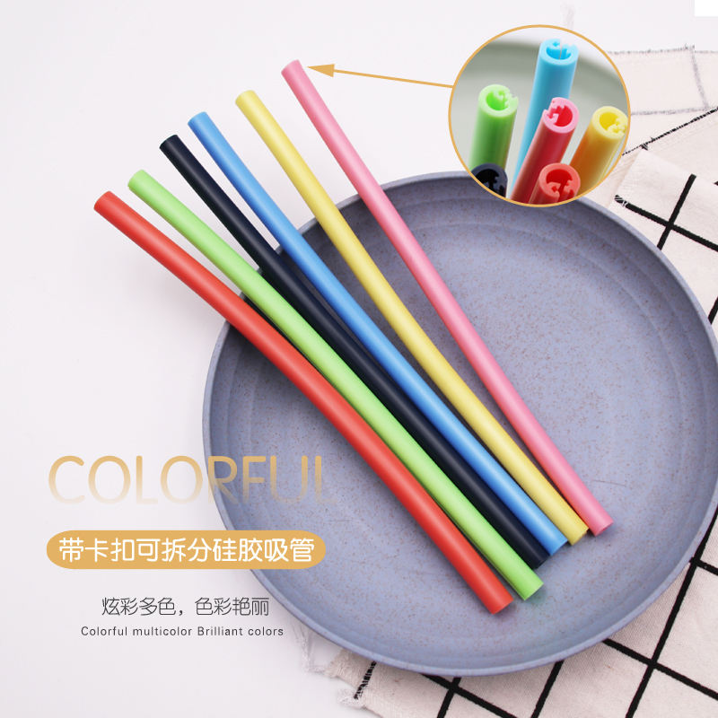 Stylish Reusable Silicone Resealable Straw Bracelet Drink Straws