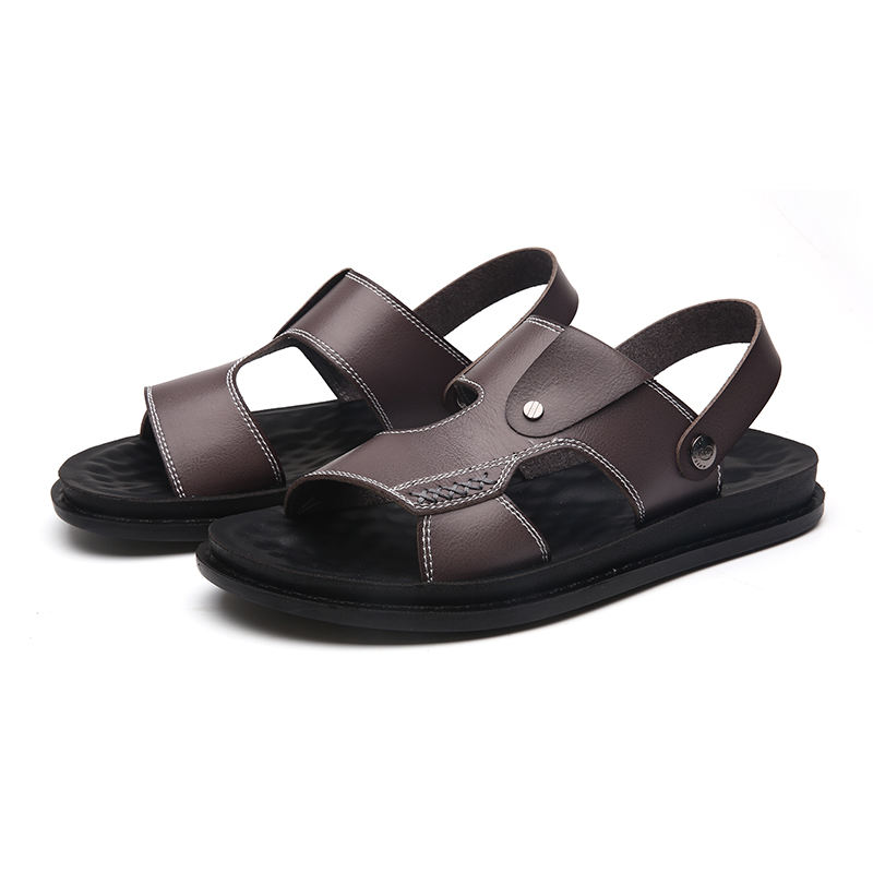 Factory new cheap hand-made men's leather sandals, wading shoes, beach shoes