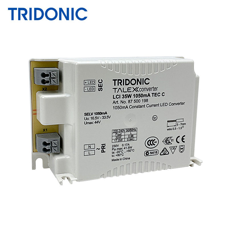 TRIDONIC 220V 35W 1050mA LED Constant Current Driver for LED Panel Light Downlight