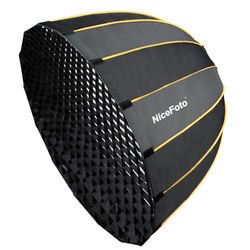 NiceFoto LED-70cm Quick set-up deep softbox with grid parabolic softbox for the professional LED video light with Bow