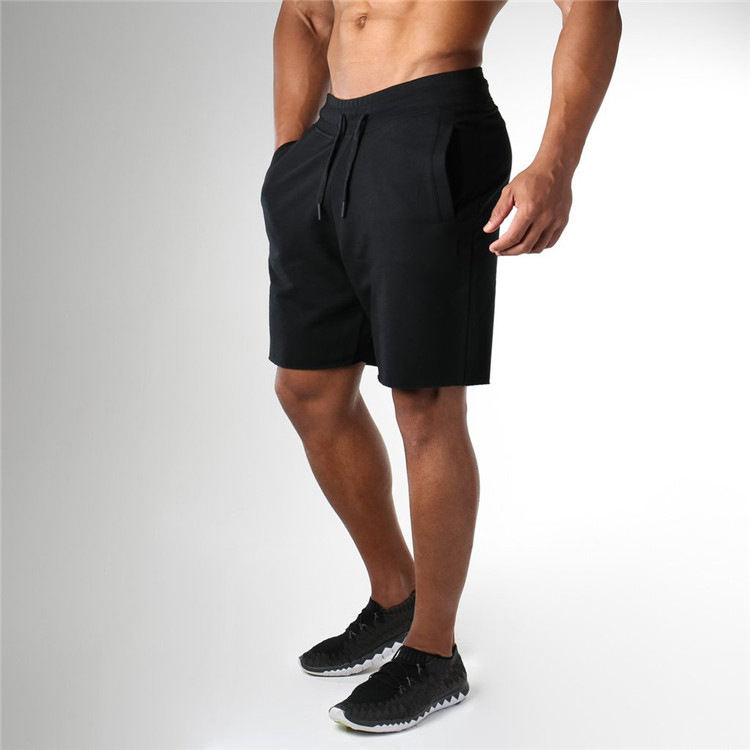 Gym wholesale shark Fitness athletics workout gym custom sport sweat men's shorts cotton