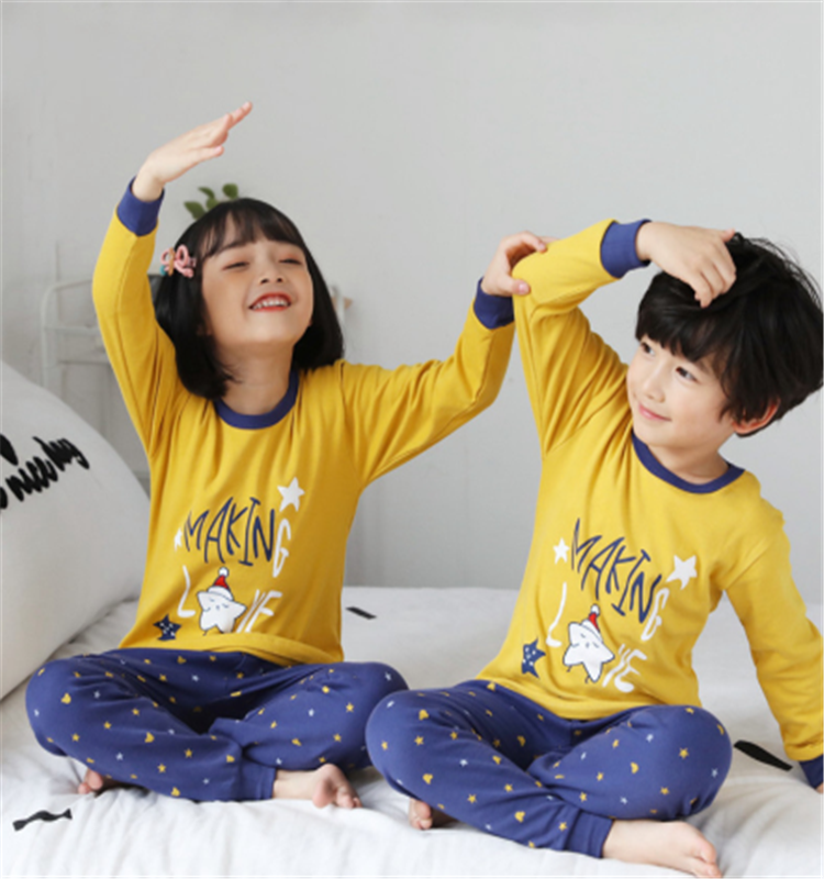 Autumn Winter Baby Girls Clothes Pajamas Sets Boy Pajamas Kids Homewear Cotton Nightwear Children's Indoor Clothing Pijamas Suit