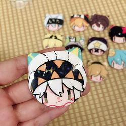 Juno Creative anime round metal tin button custom pin badge cat badge