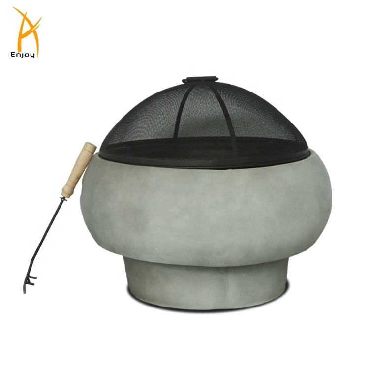 Hot sales outdoor wood burning fire pits with BBQ grills