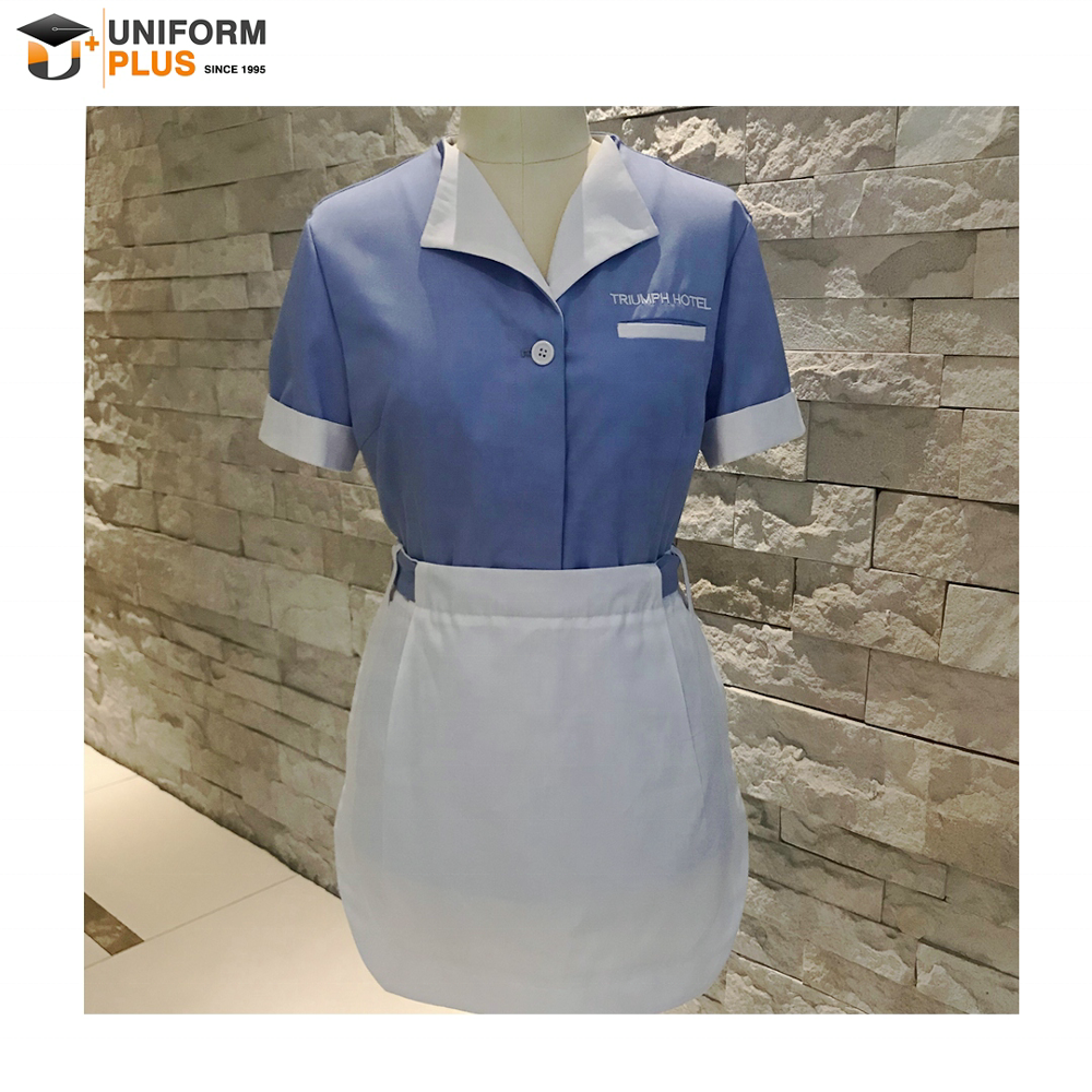 High quality hotel cleaning staff maids housekeeping uniform