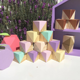 Wholesale Kids room decoration lovely wood crafts wood cube blocks for baby photo props