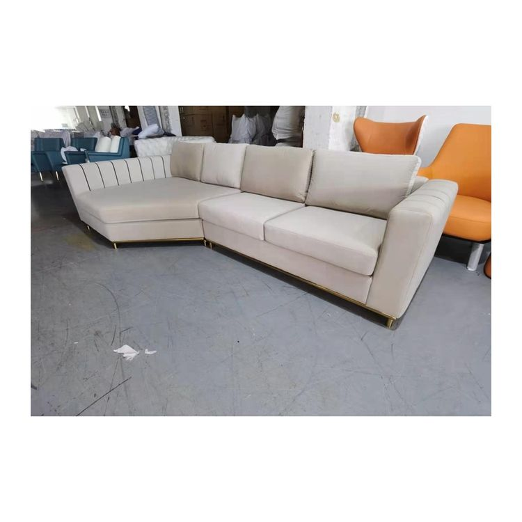 Postmoderne Licht Luxe Fluwelen L-Vormige Hoek <span class=keywords><strong>Hong</strong></span> <span class=keywords><strong>Kong</strong></span> Stijl Ins Stijl <span class=keywords><strong>Meubels</strong></span> Sofa