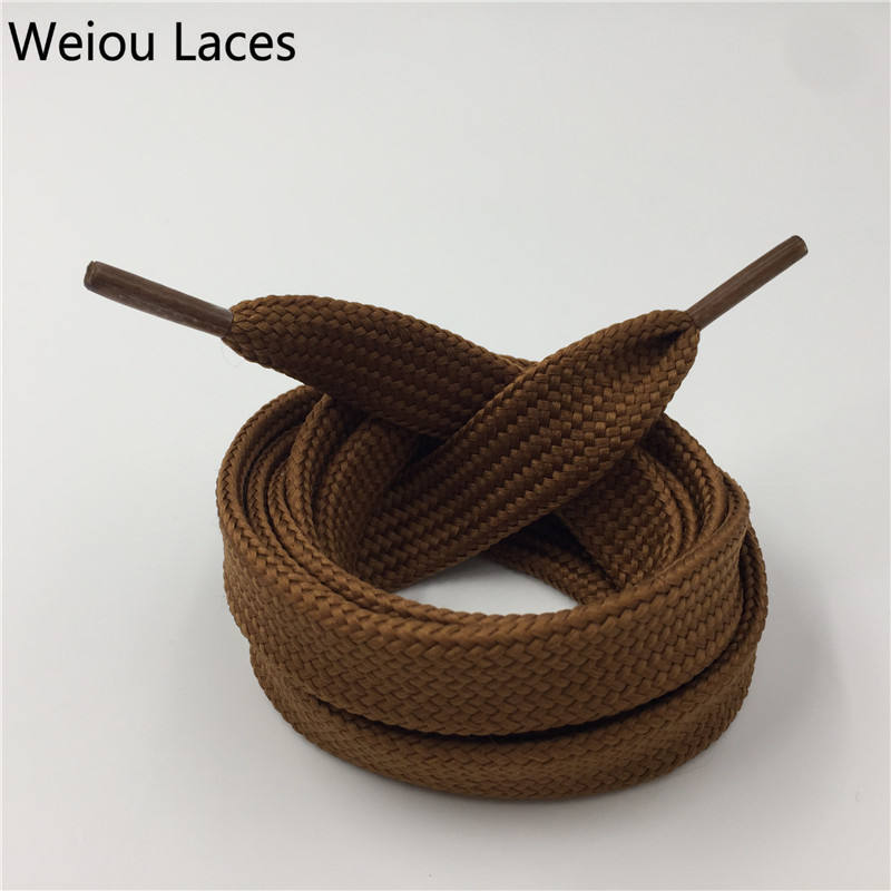 Weiou Flat Oversize Shoelaces Fat Shoe Laces with Custom Logo for Sneakers Sport Shoe String for Hoodie