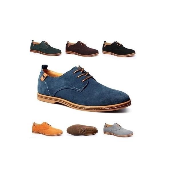 hb10105a Fashion Casual Oxford Suede Men Shoes 47 48 Large Size Real Leather shoes