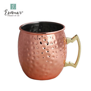 Environmentally Friendly 550ml Hammered Copper Plated Moscow Mule Mug Beer Cup Coffee Mug