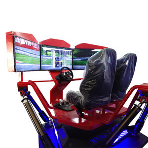 Vermaakmateriaal 3D video racing game simulator 3 screen auto racing arcade machine