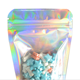 Custom logo zip lock resealable hologram mylar holographic plastic package bag