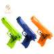 Hot sales customize logo transparent plastic toy water gun for kid