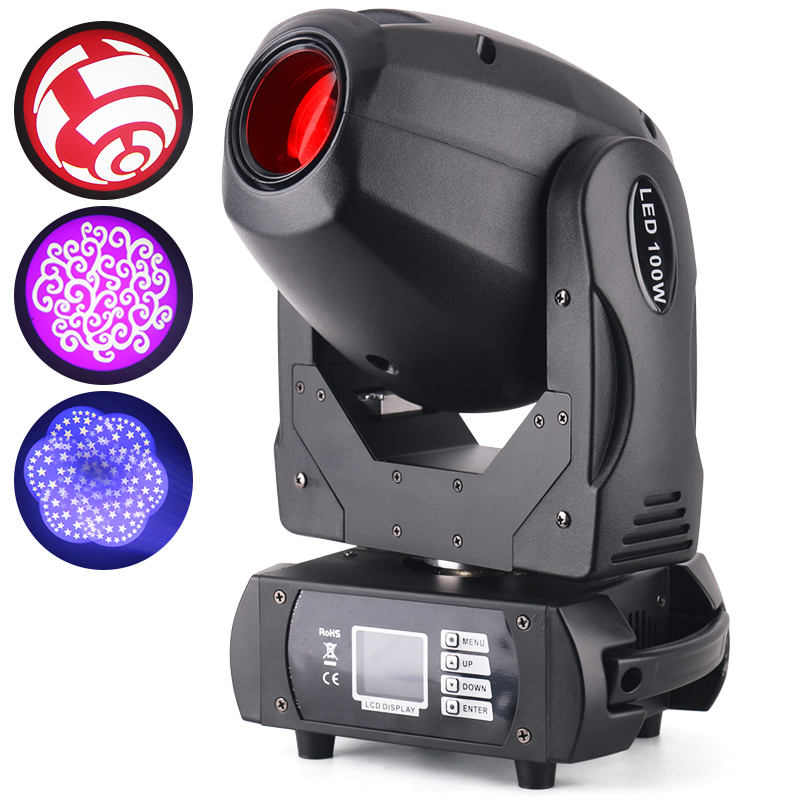 Populaire goedkoop geprijsd 100W 6 prism led moving head spot zoom dj sharpy beam light club stage led moving hoofd 100w