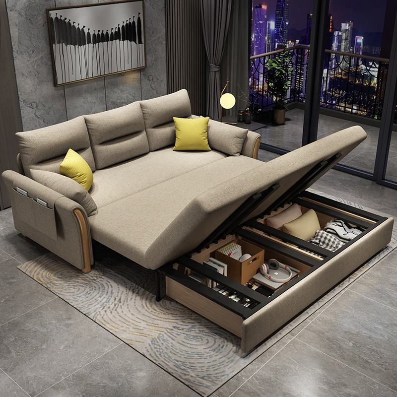 Factory Price Solid Wood Frame Fabric Sofa bed Convertible Sofas Couch Loveseat Sofa Cum Bed