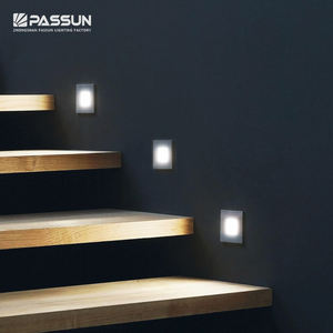 modern design aluminum indoor recessed wall foot lamp led stair step light