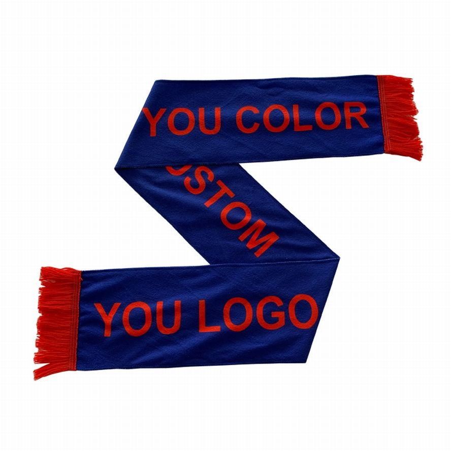 Custom printing your design 100% polyester/knitted polyester/satin/fleece football scarf