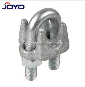 FF-C-450 High quality heavy duty rigging us type Hot dip galvanized drop forged wire rope clip
