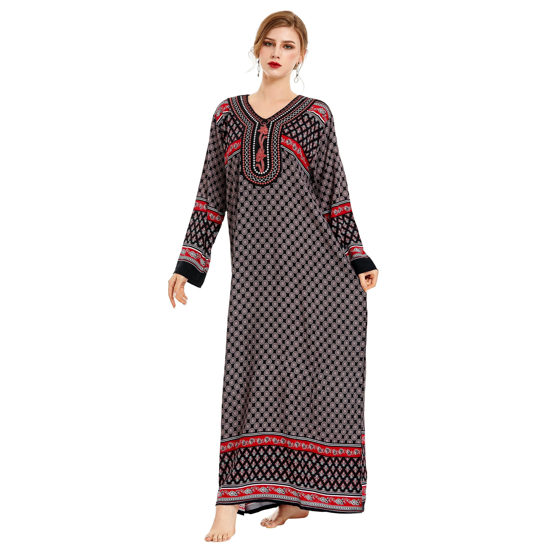 The Egyptian Women Long sleeve dress muslim wear women Islamic Clothing