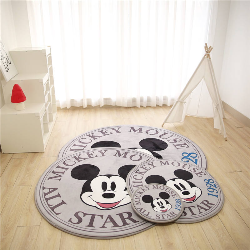 High Density Soft Round Baby Play Mat With Mickey Mouse for children