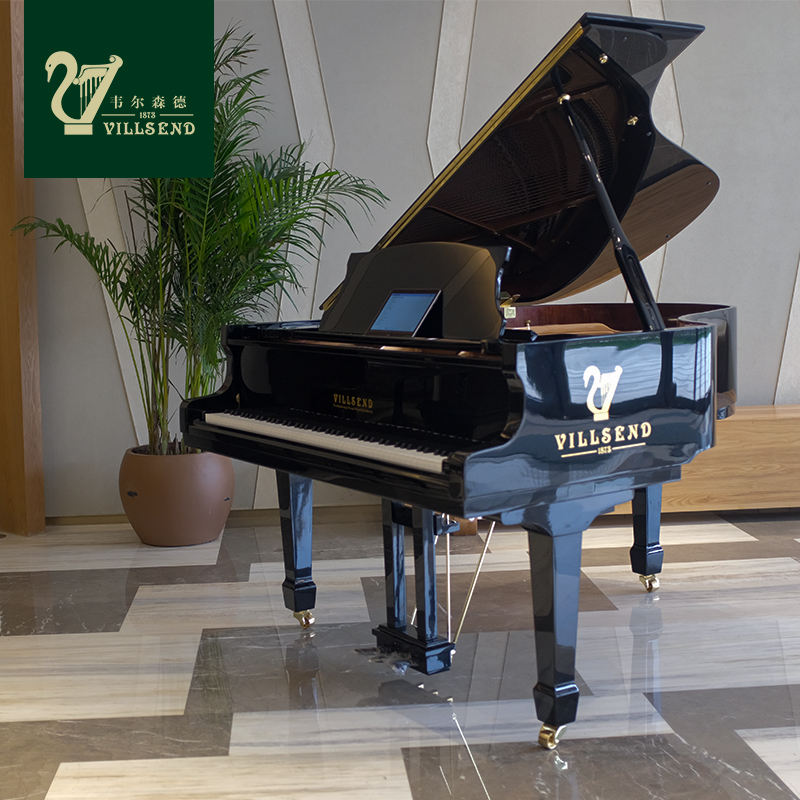 VILLSEND custom configuration black professional soundtrack instrument grand piano 88 key piano custom logo piano keyboard